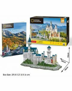 National Geographic 3D Puzzle & Book - Neuschwanstein Castle (Ages 8+)
