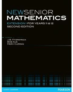 New Senior Maths Extension 1 Yr 11 and 12 (Digital Only Edition)