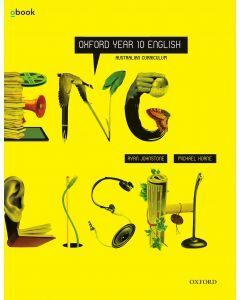 Oxford English Year 10 Australian Curriculum Student Book + obook (Available to Order)