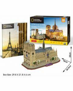 National Geographic 3D Puzzle & Book - Notre Dame De Paris (Ages 8+)
