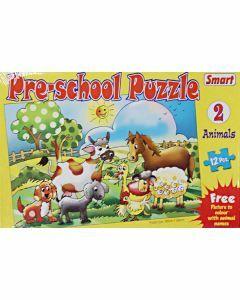 Preschool Puzzle: 2 Animals (12 pieces)