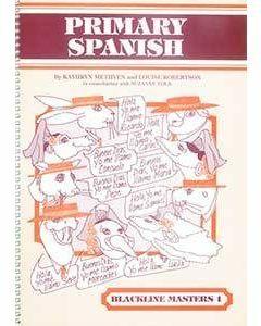 Primary Spanish Blackline Master 1