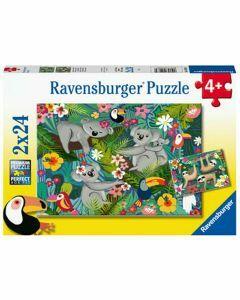 Koalas and Sloths 2 x 24 Piece Puzzle (Ages 4+)