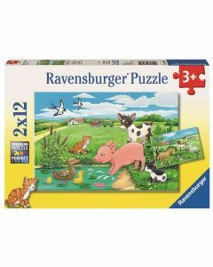 Baby Farm Animals 2 x 12 Piece Puzzles (Ages 3+)