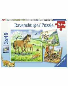 Cuddle Time 3 x 49 Piece Puzzles (Ages 5+)