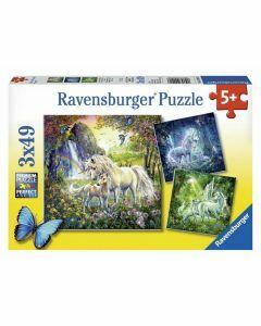 Beautiful Unicorns 3 x 49 Piece Puzzles (Ages 5+)