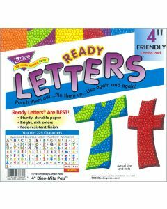 """Ready Letters 4"""" Dino-Mite pals"""