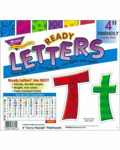 """Ready Letters 4"""" Furry Friends Patchwork"""