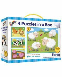4 Puzzles in a Box: Farm (Ages 3+)