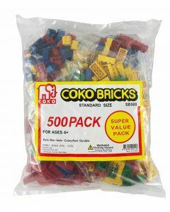 Coko Standard Bricks assorted 500 pc set (Ages 4+)