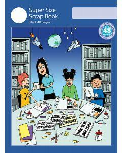 Super Size Scrap Book 48pp Blue Cover