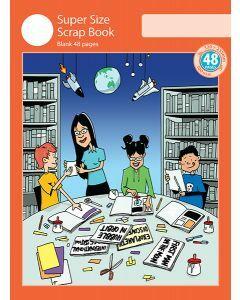 Super Size Scrap Book 48pp Red Cover