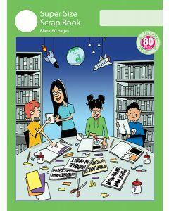 Super Size Scrap Book 80pp Green Cover