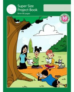 Super Size Project Book 8mm Ruled with Outline Frame 80pp