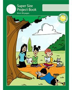 Super Size Project Book 8mm Ruled with Outline Frame 96pp