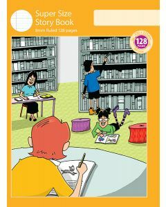 Super Size Story Book 8mm Ruled with Outline Frame 128pp