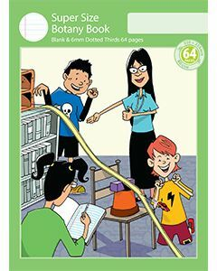 Super Size Botany Book 6mm Dotted Thirds 64pp