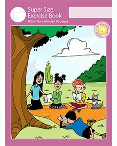 Super Size Exercise Book 10mm Normal Ruled 96pp