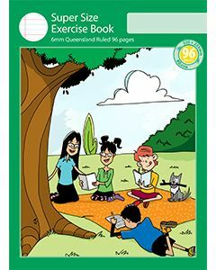 Super Size Exercise Book 6mm Queensland Ruled 96pp