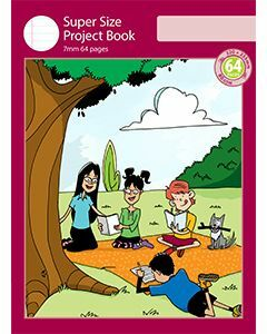 Super Size Project Book 7mm Ruled with Outline Frame 64pp