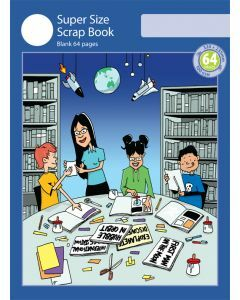 Super Size Scrap Book 64pp Blue Cover