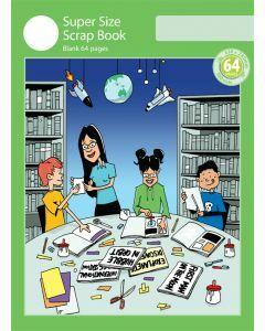 Super Size Scrap Book 64pp Green Cover