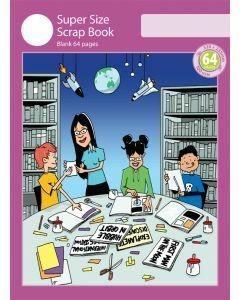 Super Size Scrap Book 64pp Purple Cover