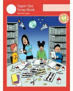 Super Size Scrap Book 64pp Red Cover