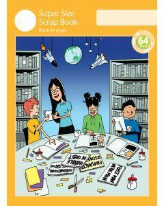 Super Size Scrap Book 64pp Yellow Cover