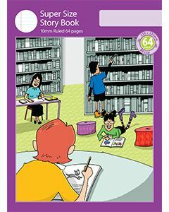 Super Size Story Book 10mm Ruled with Outline Frame 64pp