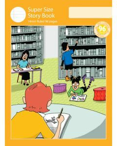 Super Size Story Book 14mm Ruled with Outline Frame 96pp