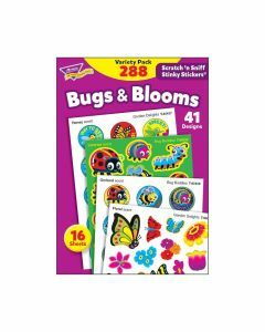 Scratch 'n Sniff Stinky Stickers Bugs & Blooms Value Pack 288