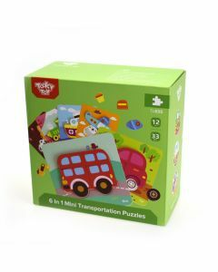 6 in 1 Mini Transportation Puzzles (12 months+)