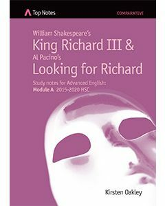 Top Notes: William Shakespeare's King Richard III and Al Pacino's Looking for Richard (purple)