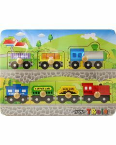 Train Wooden Puzzle with Big Knobs