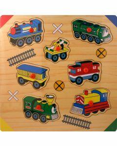 Trains Wooden Peg Puzzle