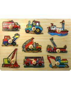 Vehicles Wooden Puzzle with Big Knobs