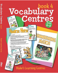 Blake's Learning Centres: Vocabulary Book 4 (Ages 8 to 9)