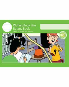 Writing Book Size Botany Book 18mm Normal Ruled 64pp