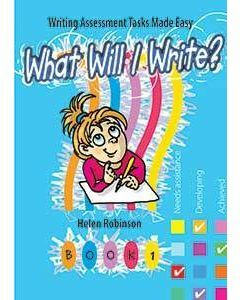 What Will I Write: Book 1