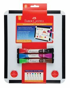 Faber Castell A4 Magnetic Whiteboard with 3 double-sided whiteboard markers