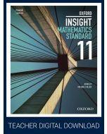 Oxford Insight Mathematics Standard Year 11 Teacher obook assess (Teacher Access Code)
