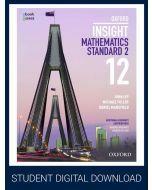 Oxford Insight Mathematics Standard 2 Year 12 Student obook assess (1 Access Code)