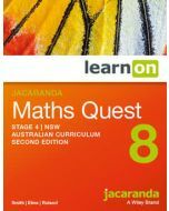 Jacaranda Maths Quest 8 Stage 4 NSW AC 2E LearnON (Access Code)
