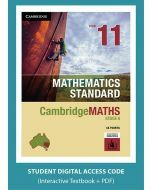CambridgeMATHS Mathematics Standard Year 11 interactive textbook (Access Code)