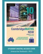 CambridgeMATHS NSW Year 10 5.1/5.2 Second Edition interactive textbook (Access Code)