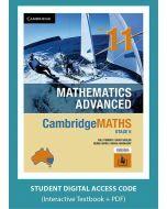 CambridgeMATHS Mathematics Advanced Year 11 interactive textbook (Access Code)