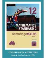 CambridgeMATHS Mathematics Standard 2 Year 12 interactive textbook (Access Code)