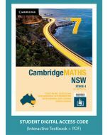 CambridgeMATHS NSW Year 7 Second Edition interactive textbook (Access Code)