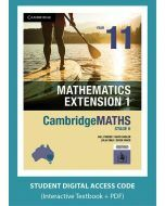 CambridgeMATHS Mathematics Extension 1 Year 11 interactive textbook (Access Code)